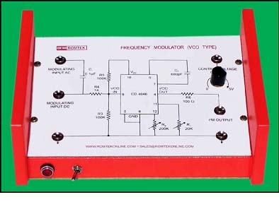 Frequency Modulator (VCO Type) Training Board